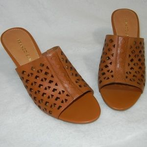 Franco Sarto Tan Leather Wedges